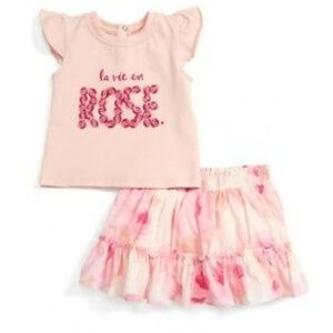 """Kate Spade Baby """"la vie en Rose"""" Tee & Skirt Set"""